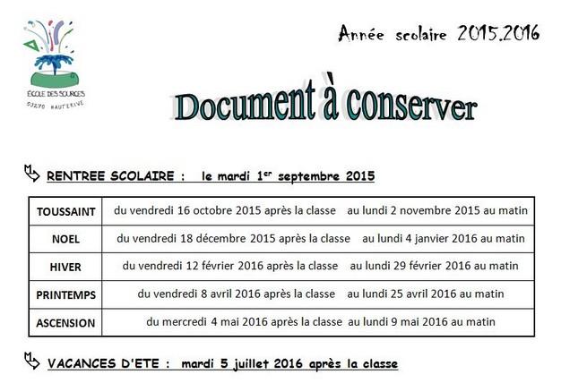 Vacances scolaires 2015 2016 mairie de hauterive - Vacances scolaire 2015 2016 ...